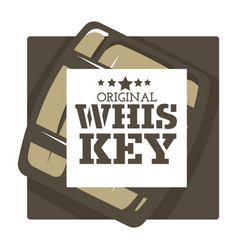Whiskey house brand isolated icon wooden barrel vector