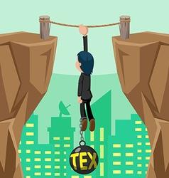 Worker Danger Tax Cliff Pendulum vector