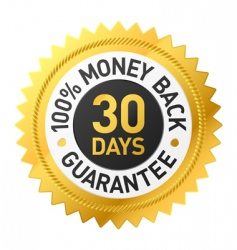 30 days money back label vector