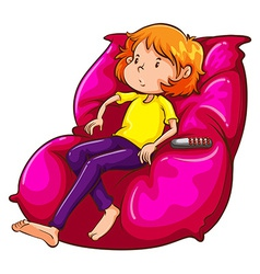 A sketch of a lazy girl at the couch vector image
