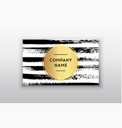 black and gold design business card abstract vector image vector image