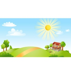 Landscape with house vector image