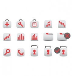 professional icons vector image