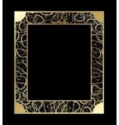 Vintage openwork Gold Frame Decorative vector image