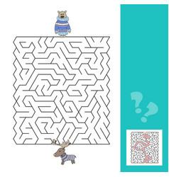 cartoon of education - game for preschool children vector image vector image
