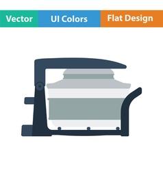 Electric con oven icon vector image