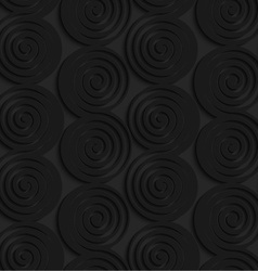 Black 3d connecting spirals with thick edge in a vector image vector image
