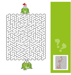 frogs maze game with answer vector image
