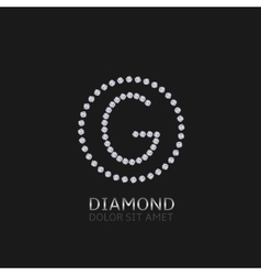 G letter with diamonds vector image