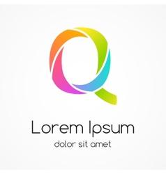 Logo letter Q company design template vector image