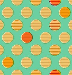 Retro geometrical seamless pattern vector image vector image