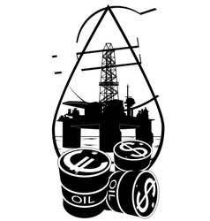 Sales of petroleum products vector image