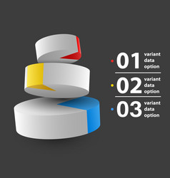 abstract 3d pie chart infographics vector image vector image