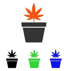 cannabis pot flat icon vector image
