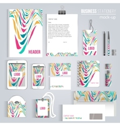 creative colorful wave corporate identity vector image