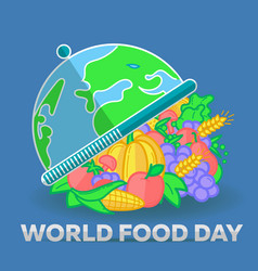 greeting card world food day vector image vector image