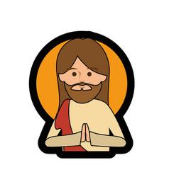 jesus christ man icon vector image