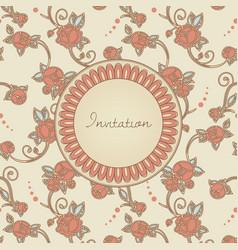 victorian style invitation cerd vector image vector image