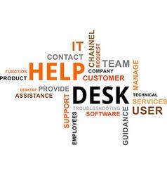 word cloud help desk vector image
