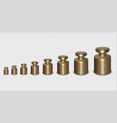 3d realistic metal calibration laboratory vector image