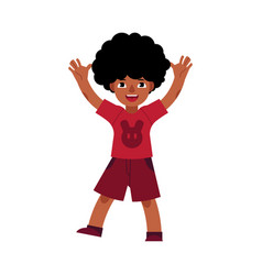 african young teenager dances smiling vector image