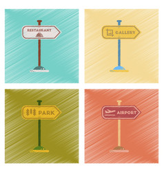 assembly flat shading style icons park street vector image