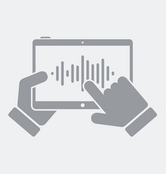 audio editor on tablet vector image