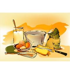 Baking ingredients vector image vector image