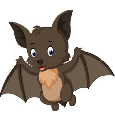 bat cartoon flying vector image