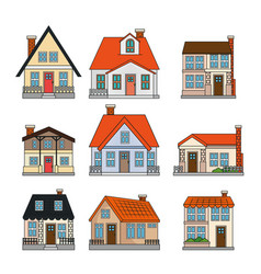beautiful house set vector image