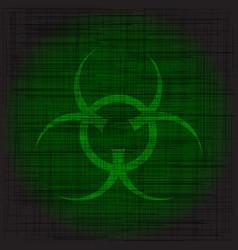 Bio hazard grunge vector