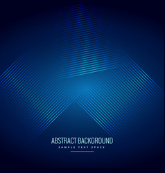 Blue background with shiny abstract lines vector