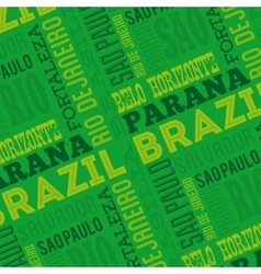 brazil poster isolated icon design vector image