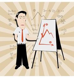 Business Man - Teacher vector image