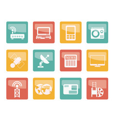 business technology communications icons vector image