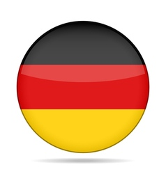 button with Germany flag vector image
