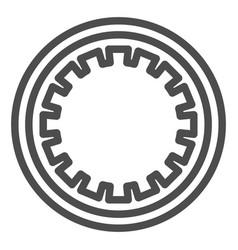 Car clutch plate line icon car disc vector