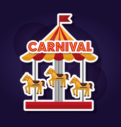 Carnival amusement park vector