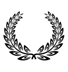 Certified wreath icon simple style vector