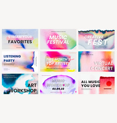 Chromatography colorful music template event ad vector