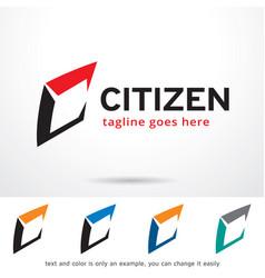 Citizen letter c logo template design vector