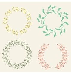 Colored Laurel Wreaths vector