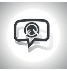 Curved meal message icon vector