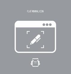 Customized computer services - web icon vector