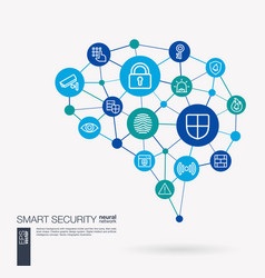 Cyber security big data protect internet safety vector