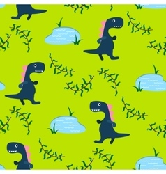 Dino kid seamless pattern for textile print vector