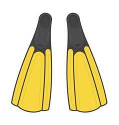 diving flippers vector image