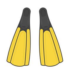 Diving flippers vector
