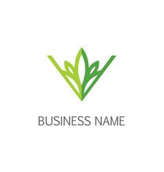 Eco leaf nature ornament logo vector