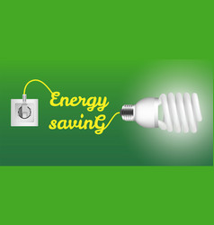 energy saving economy bulb concept background vector image